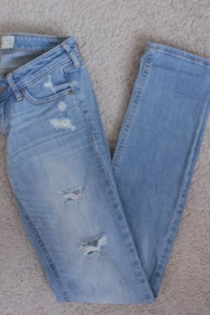 Hollister Tube jeans neon blauw-azuur