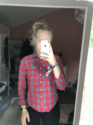 Hollister Lumberjack Shirt red-blue