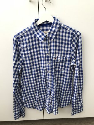 Hollister Lumberjack Shirt white-blue