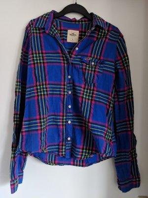 Hollister Long Sleeve Shirt blue-magenta