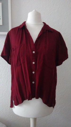 Hollister Camicia a maniche corte carminio-rosso scuro
