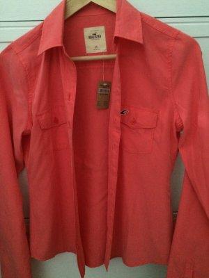 Hollister Hemd Bluse koralle pink