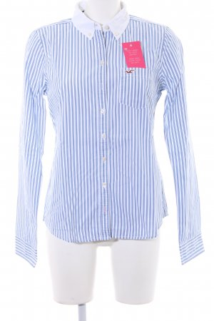 Hollister Hemd-Bluse stahlblau-weiß Streifenmuster Business-Look