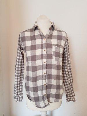 hollister hemd grau weiß
