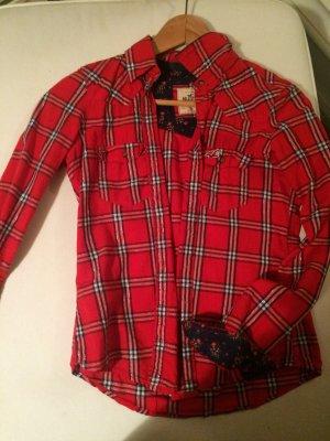 Hollister Hemd in Rot mit Muster. Größe XS