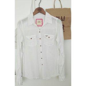 Hollister Hemd weiß längs gestreift basic