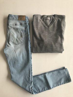hollister high rise skinny jegging Jeans legging 26/31 neuwertig