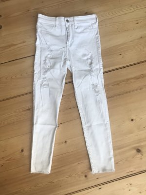 Hollister High Waist Jeans white