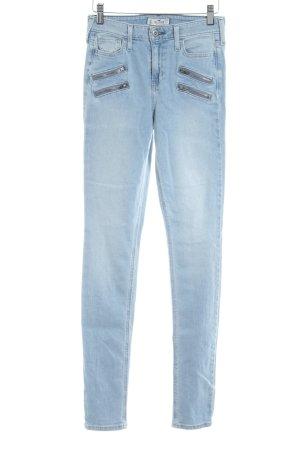Hollister Jeans a vita alta azzurro stile casual