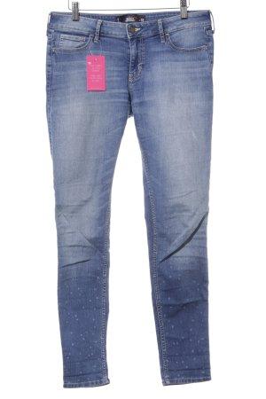 Hollister High Waist Jeans himmelblau-kornblumenblau Punktemuster Casual-Look