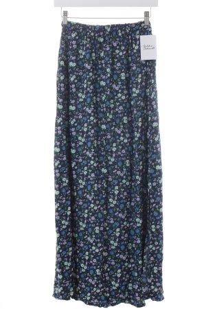 Hollister High Waist Rock blasslila-dunkelblau Blumenmuster Romantik-Look