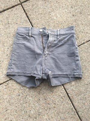 Hollister Pantalón corto de talle alto gris claro
