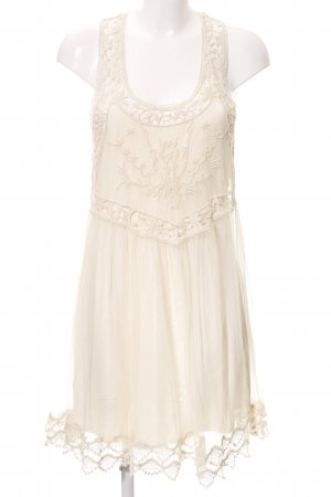 Hollister Hippie Dress natural white-cream hippie style
