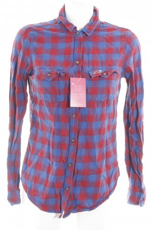 Hollister Lumberjack Shirt blue-red check pattern casual look