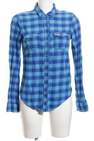 Hollister Holzfällerhemd hellblau-blau Karomuster Casual-Look