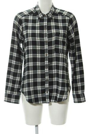 Hollister Holzfällerhemd schwarz-weiß Karomuster Brit-Look