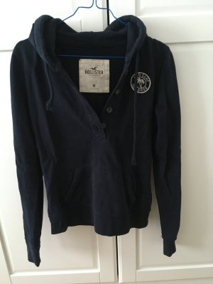 Hollister Hooded Sweater blue cotton