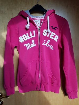 Hollister Fleece Jackets pink cotton