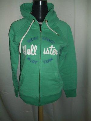 Hollister Hoodie Sweatjacke in grün Größe M