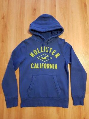 Hollister Hoodie Sweatshirt Oversize / Boyfriend Sweatshirt blau / royalblau Männer Gr. S