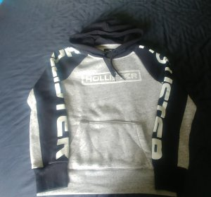 Hollister Hooded Sweater black-light grey