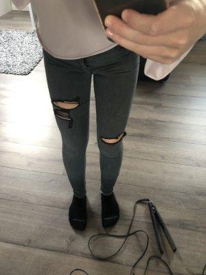 Hollister Low Rise jeans grijs