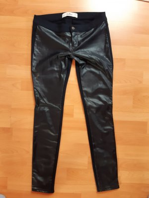 Hollister Leather Trousers black