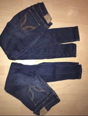 Hollister Pantalon cigarette bleu foncé