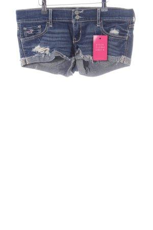 Hollister Hot Pants blau Street-Fashion-Look