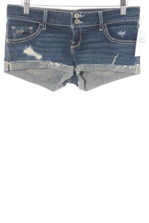 Hollister Hot Pants blau Used-Optik
