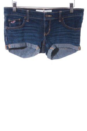 Hollister Hot Pants dunkelblau Jeans-Optik