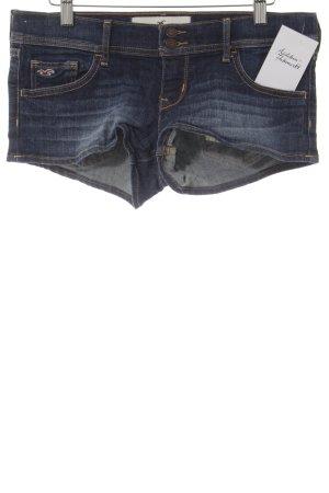 Hollister Hot Pants dunkelblau-stahlblau Beach-Look
