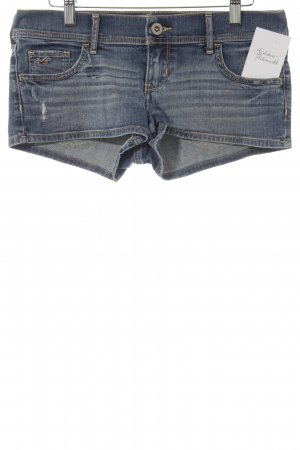 Hollister Hot Pants dunkelblau-stahlblau Beach-Look
