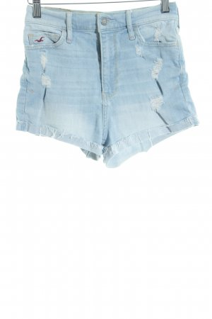 Hollister Hot Pants hellblau Destroy-Optik
