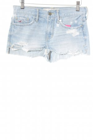 Hollister Hot Pants hellblau-himmelblau Urban-Look