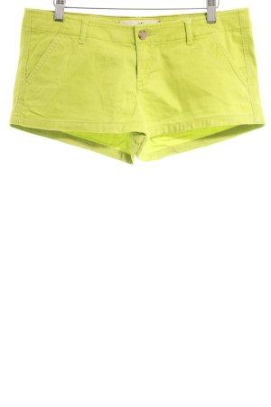 Hollister Hot pants verde neon stile stravagante