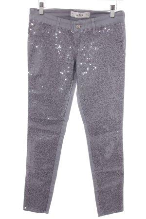Hollister Pantalone a vita bassa grigio stile da moda di strada