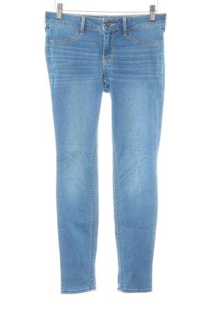 Hollister Hüftjeans kornblumenblau Washed-Optik