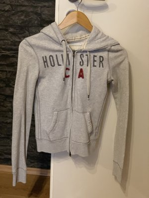 Hollister Chaqueta de tela de sudadera gris claro