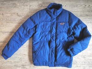 Hollister Jacke Gr M blau mit Daunen und Federn gefüllt