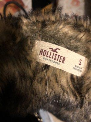 Hollister Fleece jack grijs