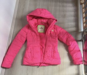 Hollister Outdoor Jacket raspberry-red-neon pink