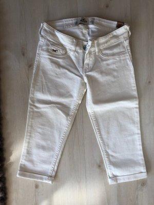 Hollister Jeans 3/4 weiß