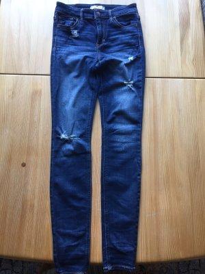Hollister Hoge taille jeans blauw-donkerblauw