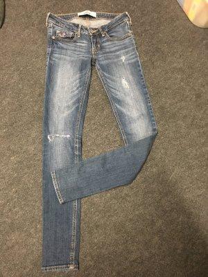 Hollister Tube Jeans blue-dark blue