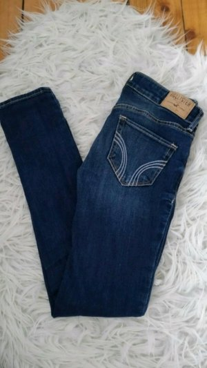 Hollister Jeans blau eng Sommer washed
