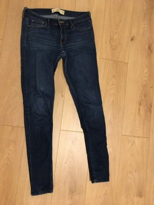 Hollister Tube jeans donkerblauw