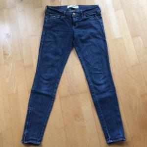 Hollister Jeans Gr. 26 Gr. 3 Denim skinny dunkelblau