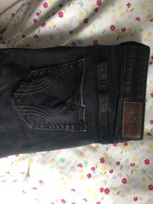 Hollister Hoge taille jeans zwart-grijs