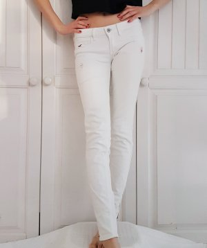 Hollister Jeans Hose Röhrenhose Röhren weiß Röhrenjeans 34 XS w 26 L 29 Anzughose Breite Jeans